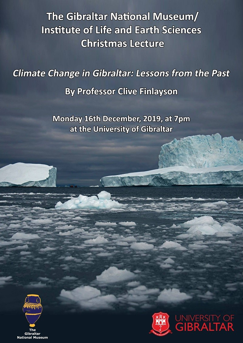 Christmas Lecture 'Climate Change in Gibraltar: Lessons from the Past' Image