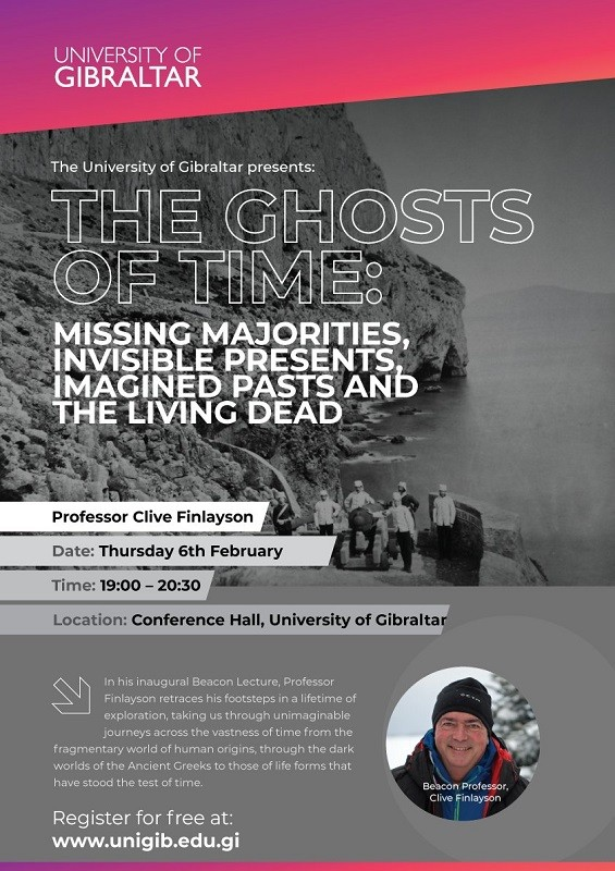 The Ghosts of Time: A Lecture by Beacon Professor Clive Finlayson Image